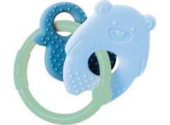 Nattou Kousátko silikonové BPA free Lapidou medvídek modrá