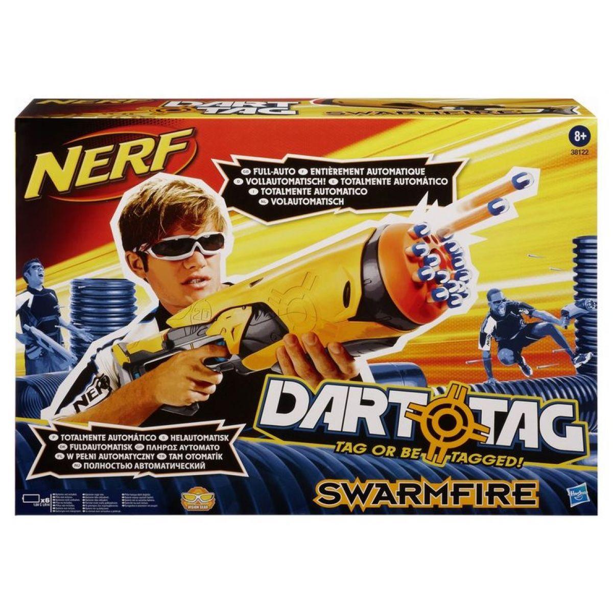Nerf Nový Dart Tag Swarmfire samopal