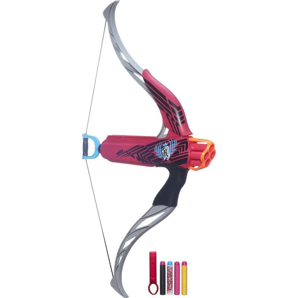 Nerf Rebelle Luk vystřelující 4 šipky - Růžová