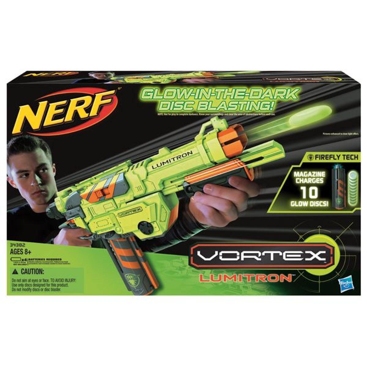Nerf Vortex Lumitron pro noční misi