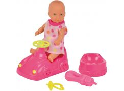 New Born Baby Mini New Born panenka 12 cm s příslušenstvím puntík