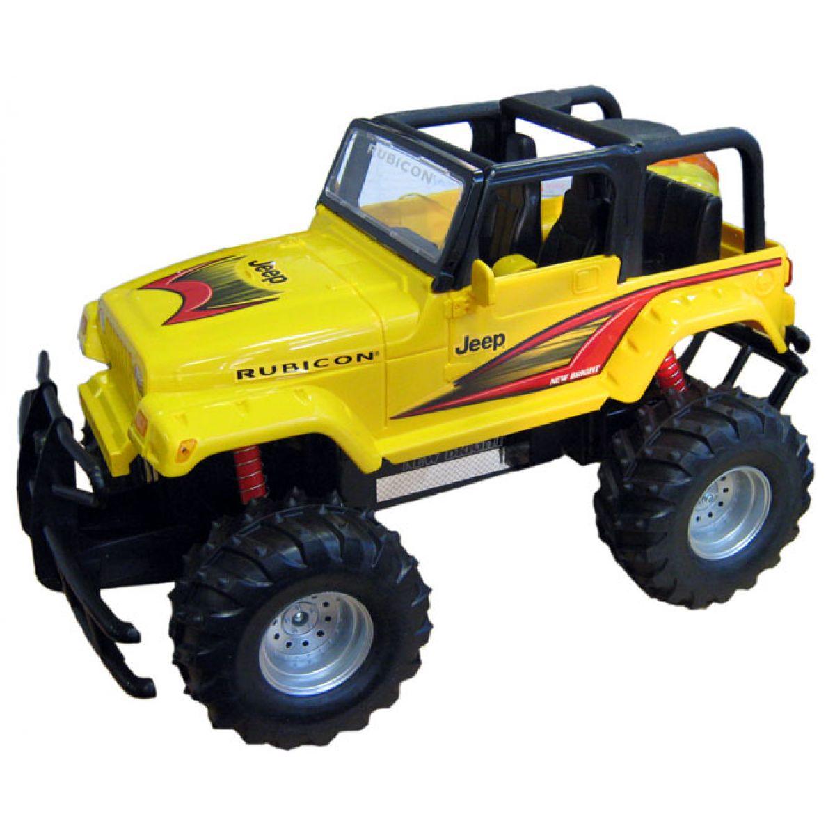 New Bright Jeep Wrangler - žlutý 1:10