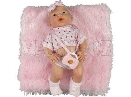 Nines Golosinas holčička v růžovém úpletu s polštářkem 26cm
