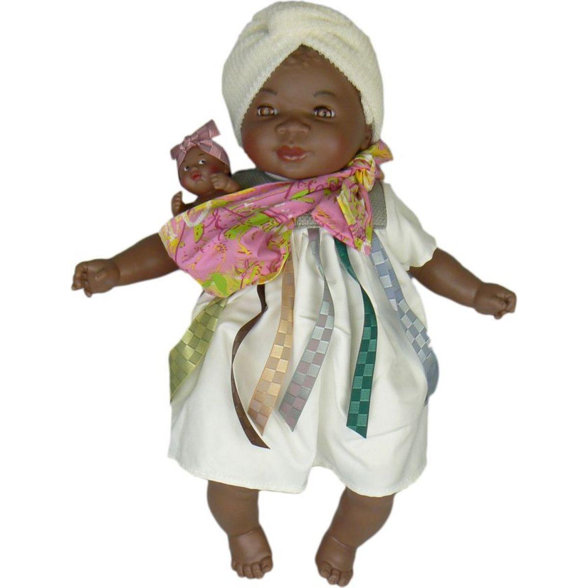 Nines Maha Con Bebe 45 cm - Bílé šaty