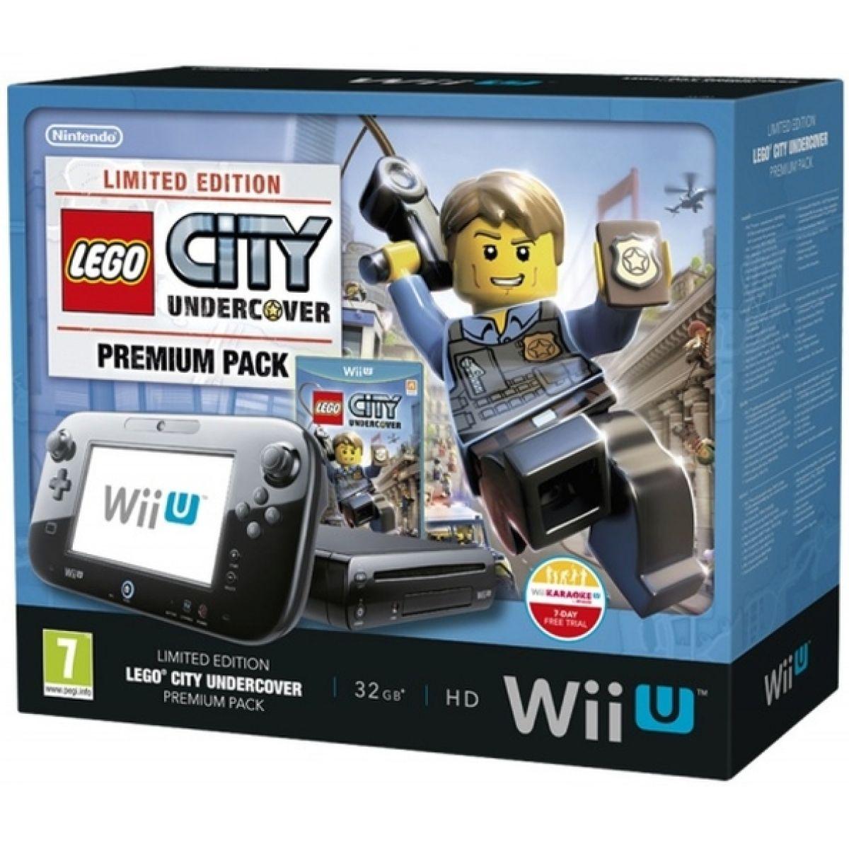Nintendo Wii U Black Premium Pack 32GB + LEGO City Undercover