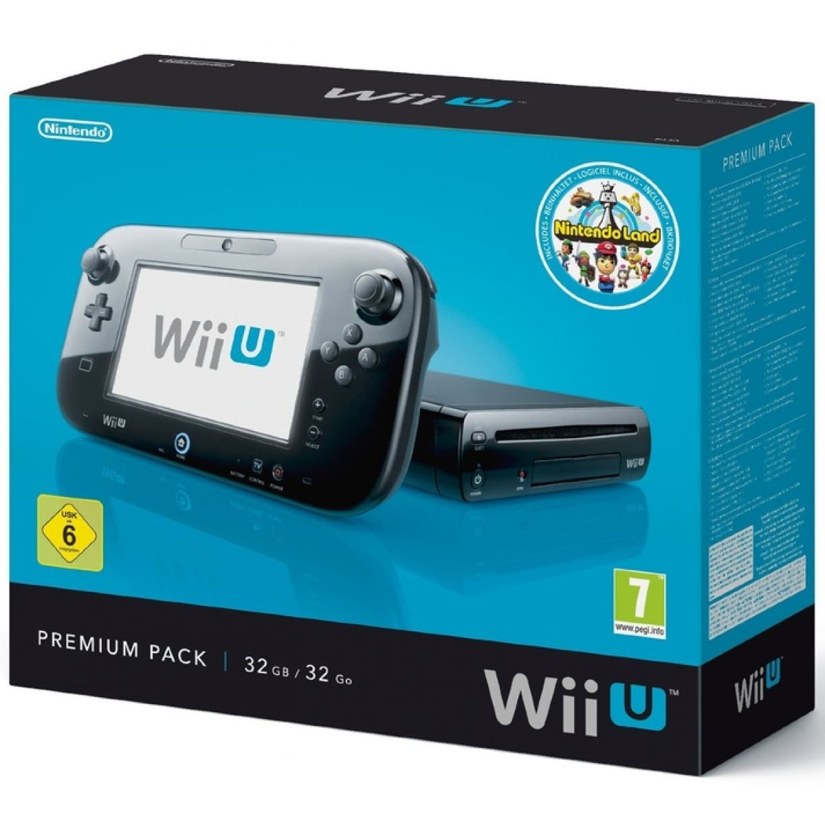 Nintendo Wii U Black Premium Pack 32GB + Nintendo Land