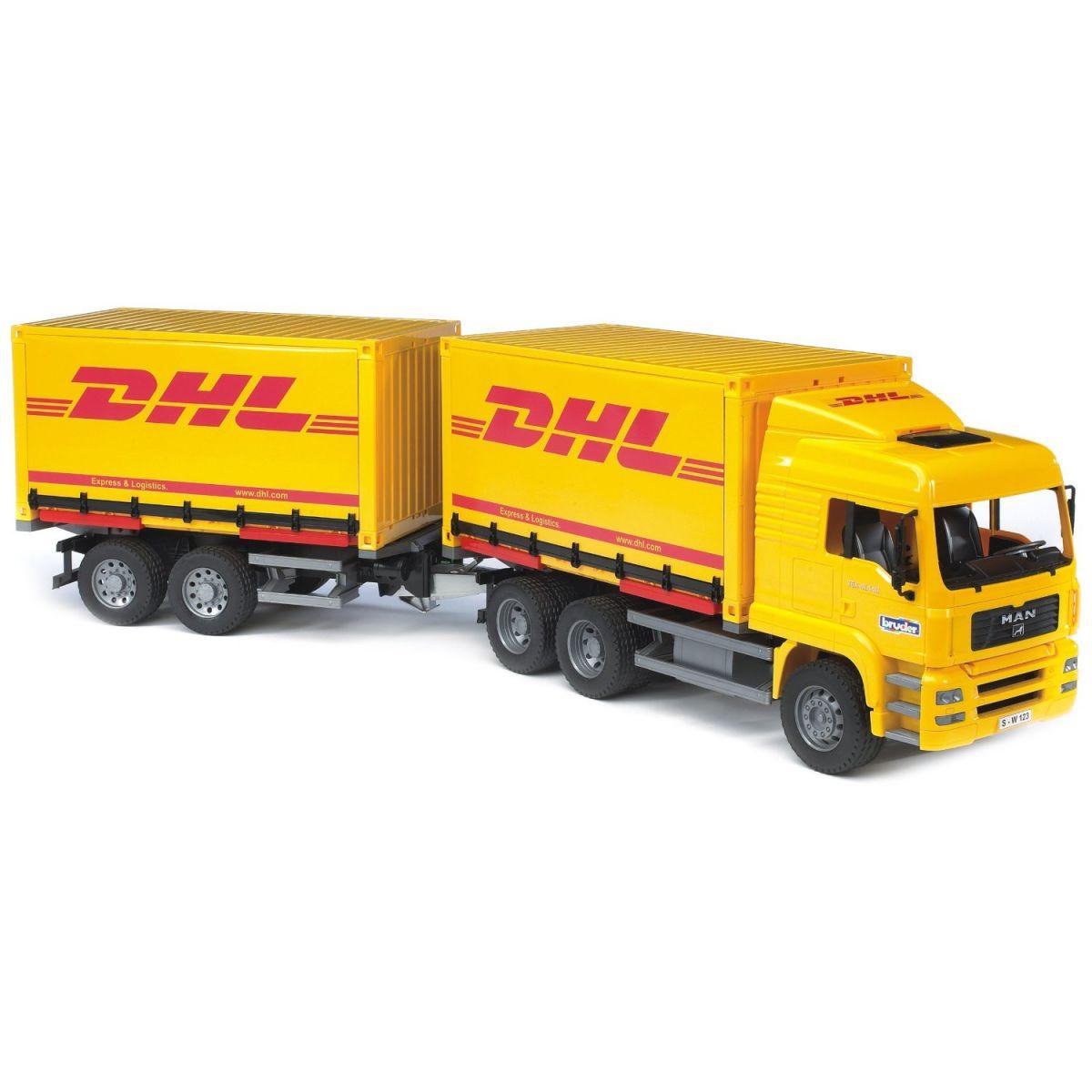 Nákladní auto MAN - kontejner+vlek DHL Bruder 02784