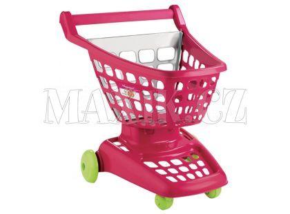 Nákupní vozík 42 cm 2 druhy Ecoiffier - Růžová