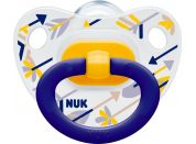 Nuk Dudlík Classic Happy Days 0-6m - Modrý