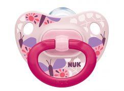 NUK Dudlík Classic Happy Days, SI, V2 6-18m motlýlci růžový