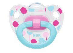 NUK Dudlík Classic Happy Days, SI, V2 6-18m zeleno-růžové balónky
