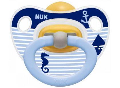 Nuk Dudlík Classic Happy Kids 0-6m - Pruhy a mořský koník