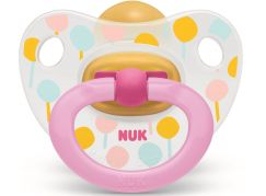 Nuk Dudlík Classic Happy Kids, LA, V1 0-6m balónky růžové