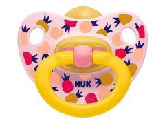 NUK Dudlík Classic Happy Kids, LA, ,V2 6-18m ananas růžový