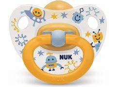 NUK Dudlík Classic Happy Kids, LA, ,V2 6-18m mimozemšťan žlutý