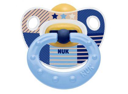 Nuk Dudlík Classic Happy Kids latex 18m+ - Světle modrý