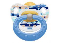 Nuk Dudlík Classic Happy Kids latex 18m+ - Tmavě modrý