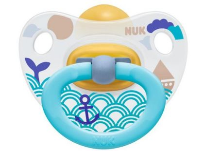 Nuk Dudlík Classic Happy Kids latex 18m+ - Vlnky