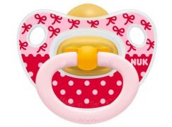 Nuk Dudlík Classic Happy Kids latex 6-18m - Mašličky
