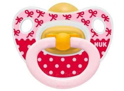 Nuk Dudlík Classic Happy Kids latex 6-18m - Mašličky