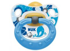 Nuk Dudlík Classic Happy Kids latex 6-18m - Modrý