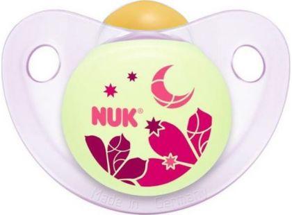 Nuk Dudlík Den a Noc 0-6m - Růžový měsíc