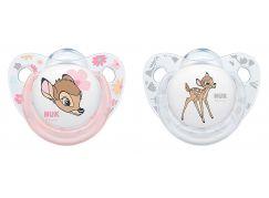 NUK Dudlík Disney Classic SI, V1 0-6m 2 ks v boxu jelen Bambi