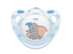 NUK Dudlík Disney Classic SI, V2 6-18m Dumbo modrý