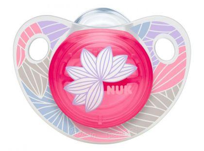 Nuk Dudlík Trendline Adore Latex 0-6m - Růžová kytka
