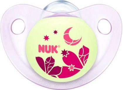 Nuk Dudlík Trendline Den a Noc silikonový 0-6m - Květina