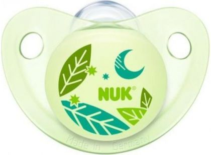 Nuk Dudlík Trendline Den a Noc silikonový 0-6m - Listy