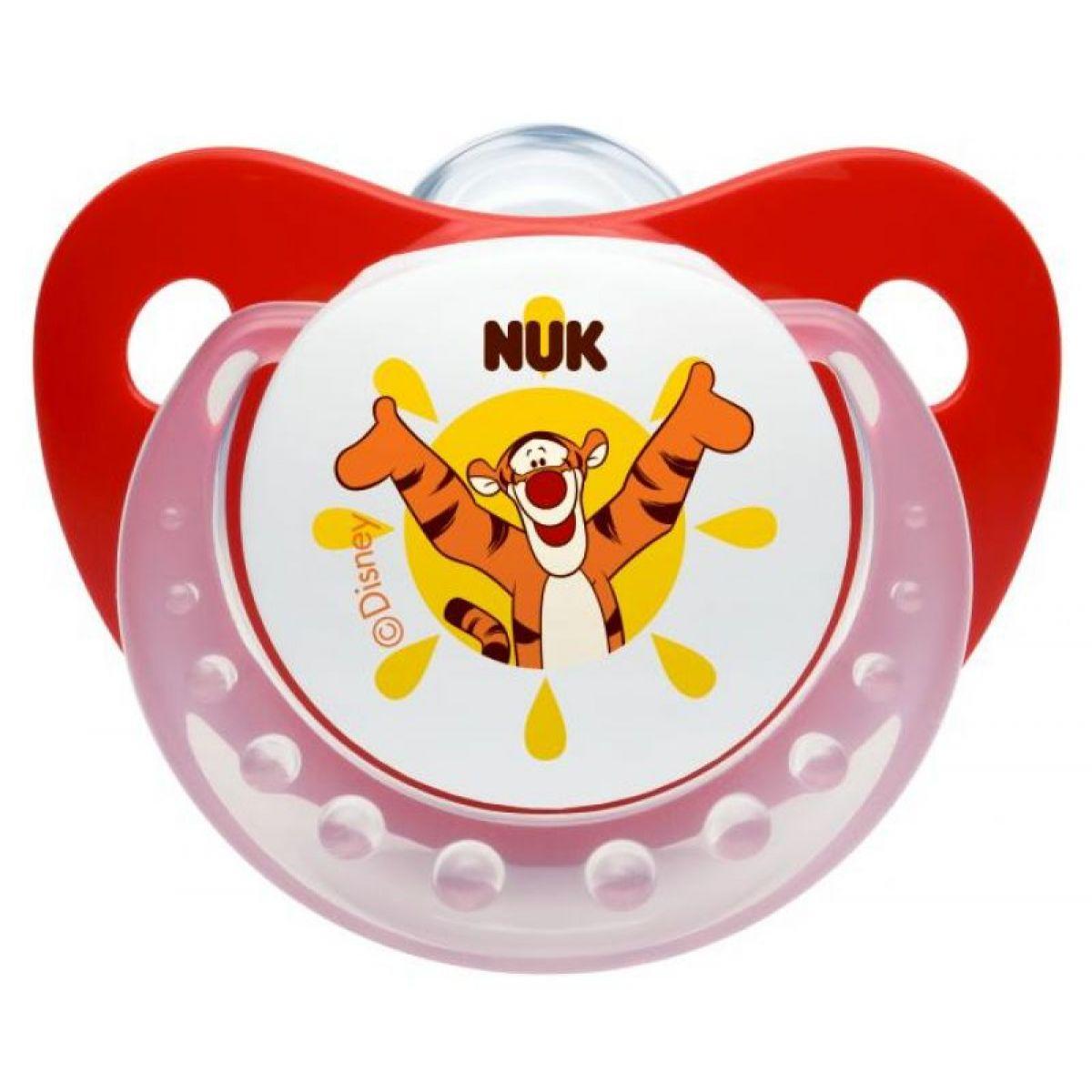Nuk Dudlík Trendline Disney Medvídek Pú 0-6m - Červený