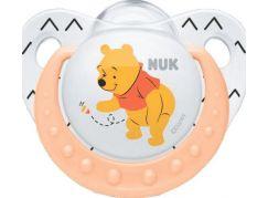 Nuk Dudlík Trendline Disney Medvídek Pú silikon 0-6m. Oranžová
