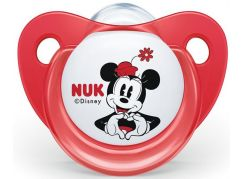 Nuk Dudlík Trendline Disney Mickey SI, V1 0-6m Červený Mickey Mouse