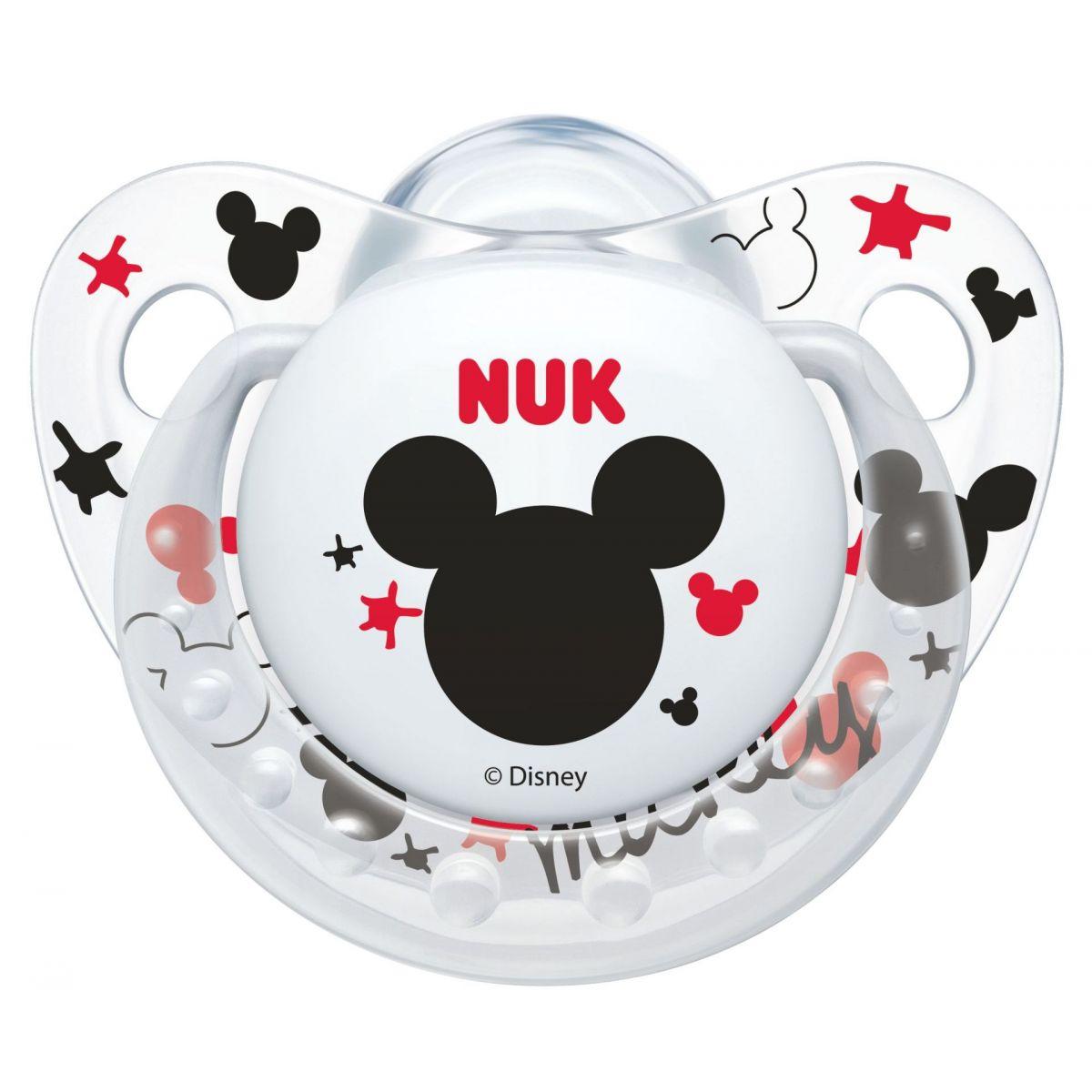 Nuk Dudlík Trendline Disney Mickey SI, V2 6-18m bílý