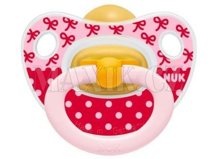 Nuk Dudlík Classic Happy Kids latex 18m+ - Mašličky