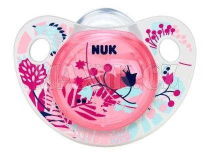 Nuk Dudlík Trendline Adore silikon 6-18m - Růžový