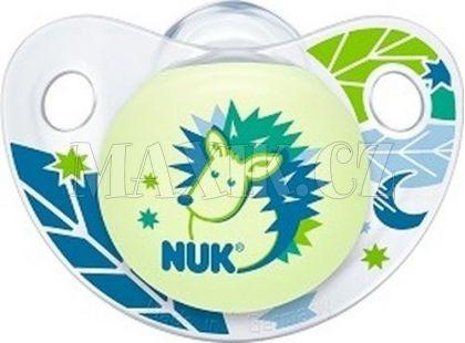 Nuk Dudlík Trendline Den a Noc silikon 6-18m - Ježek