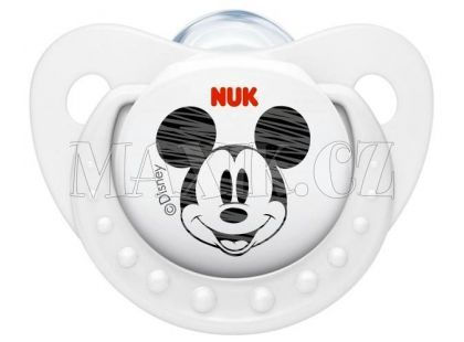 Nuk Dudlík Trendline Disney Mickey 6-18m - Bílý