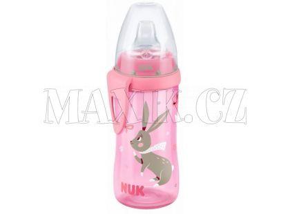 NUK FC Active Cup Lahev 300ml - Růžová s králíčky
