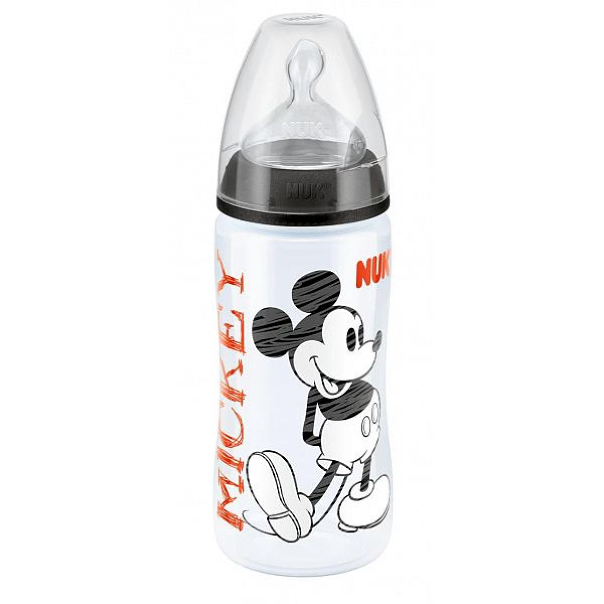 Nuk FC Láhev Disney Mickey 300ml - Černá