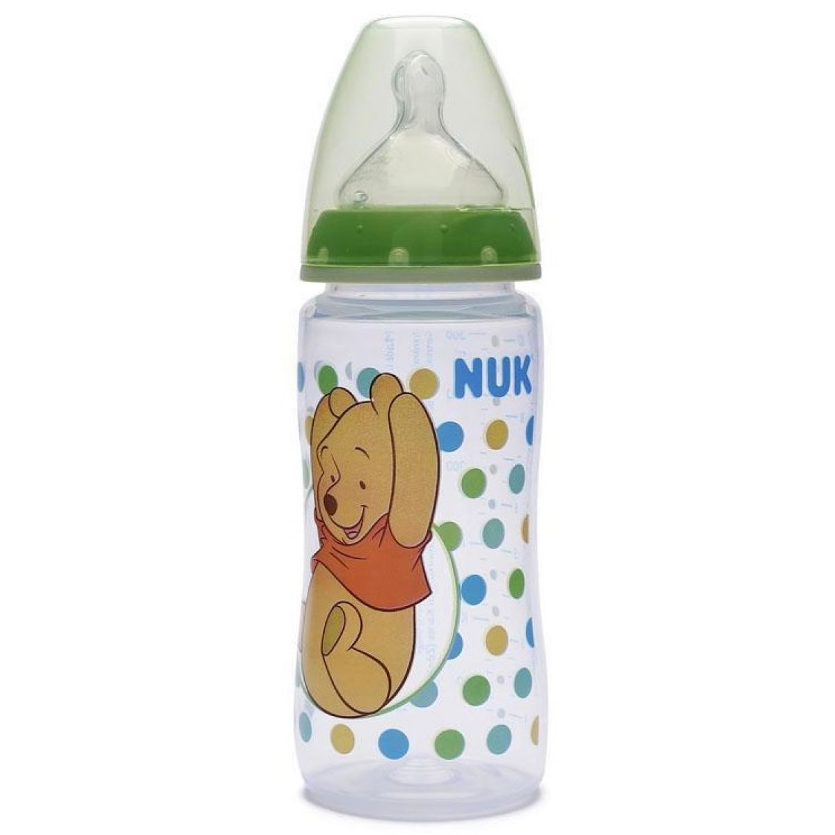 Nuk First Choice Láhev Disney Medvídek Pú 300ml - Zelená