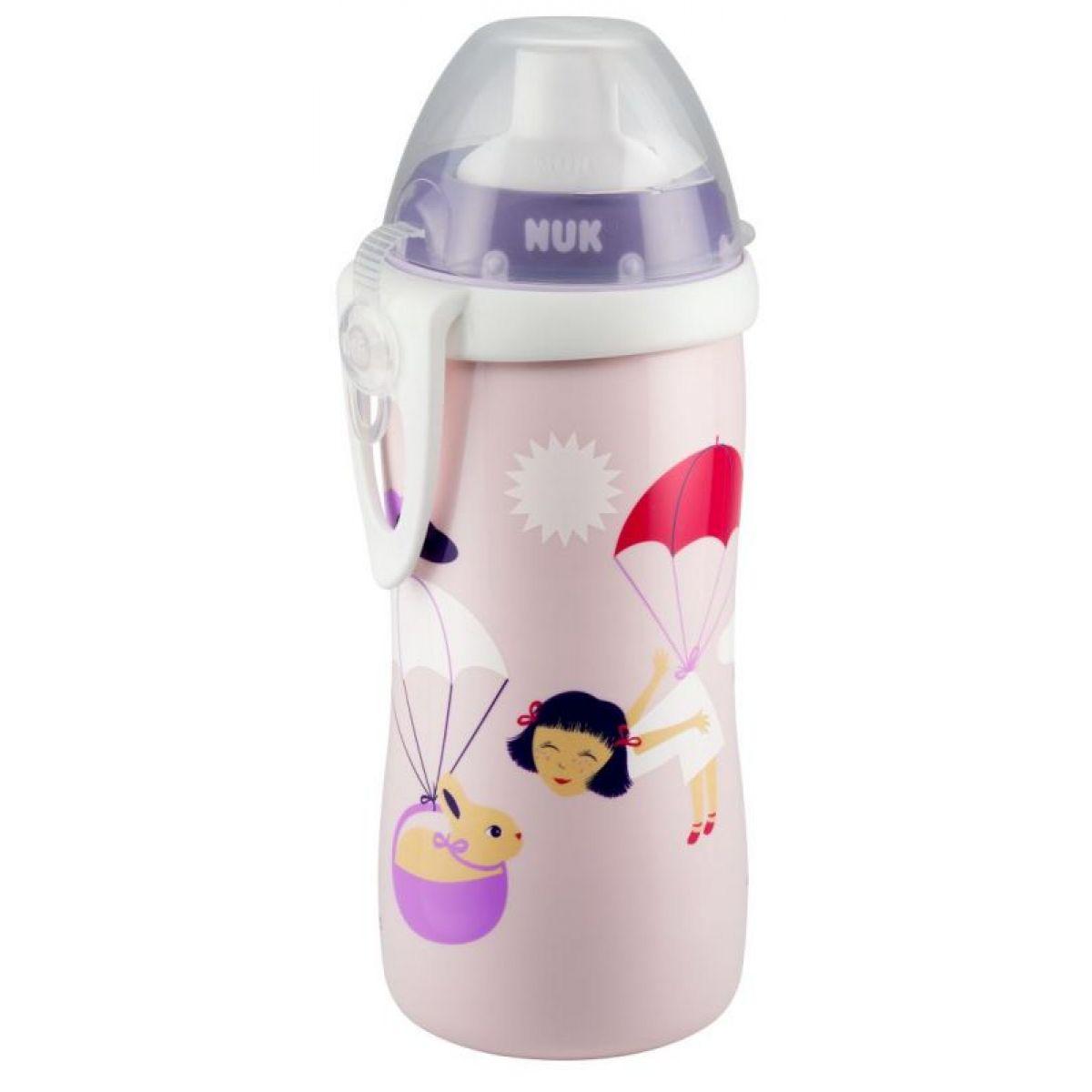 Nuk Láhev Flexi Cup 300ml - Růžová holčička