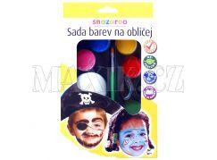 Obličejové barvy - pirát a moře