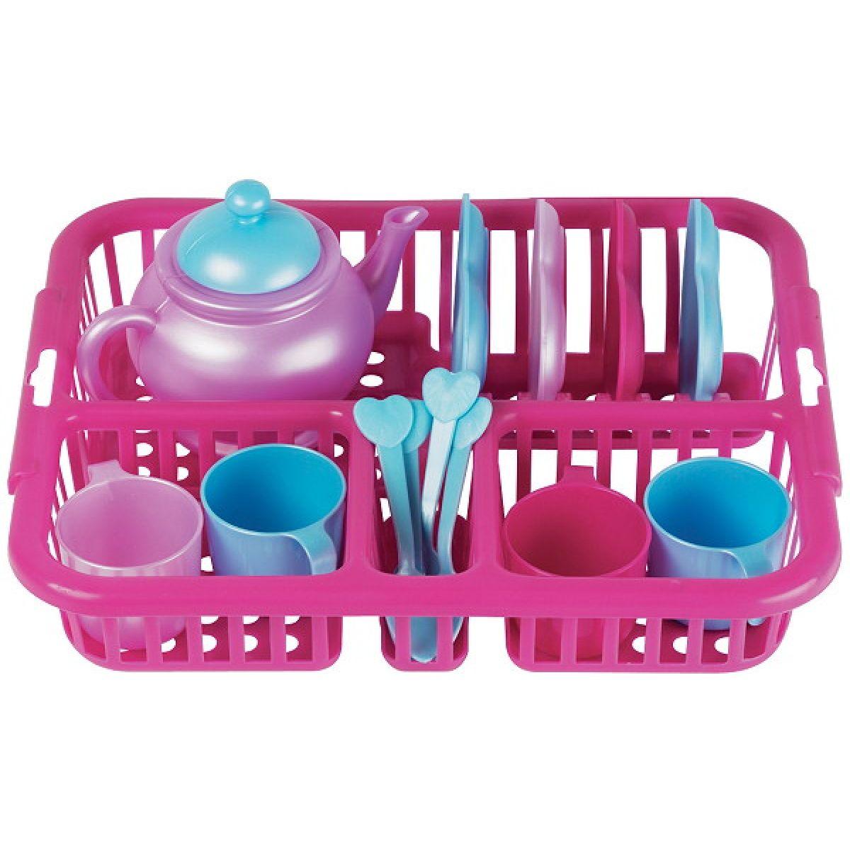 Odkapávač s nádobím a konvičkou