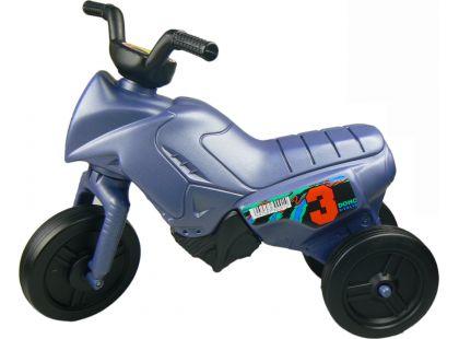 Odrážedlo motorka Enduro menší 150 - Modrá metalická