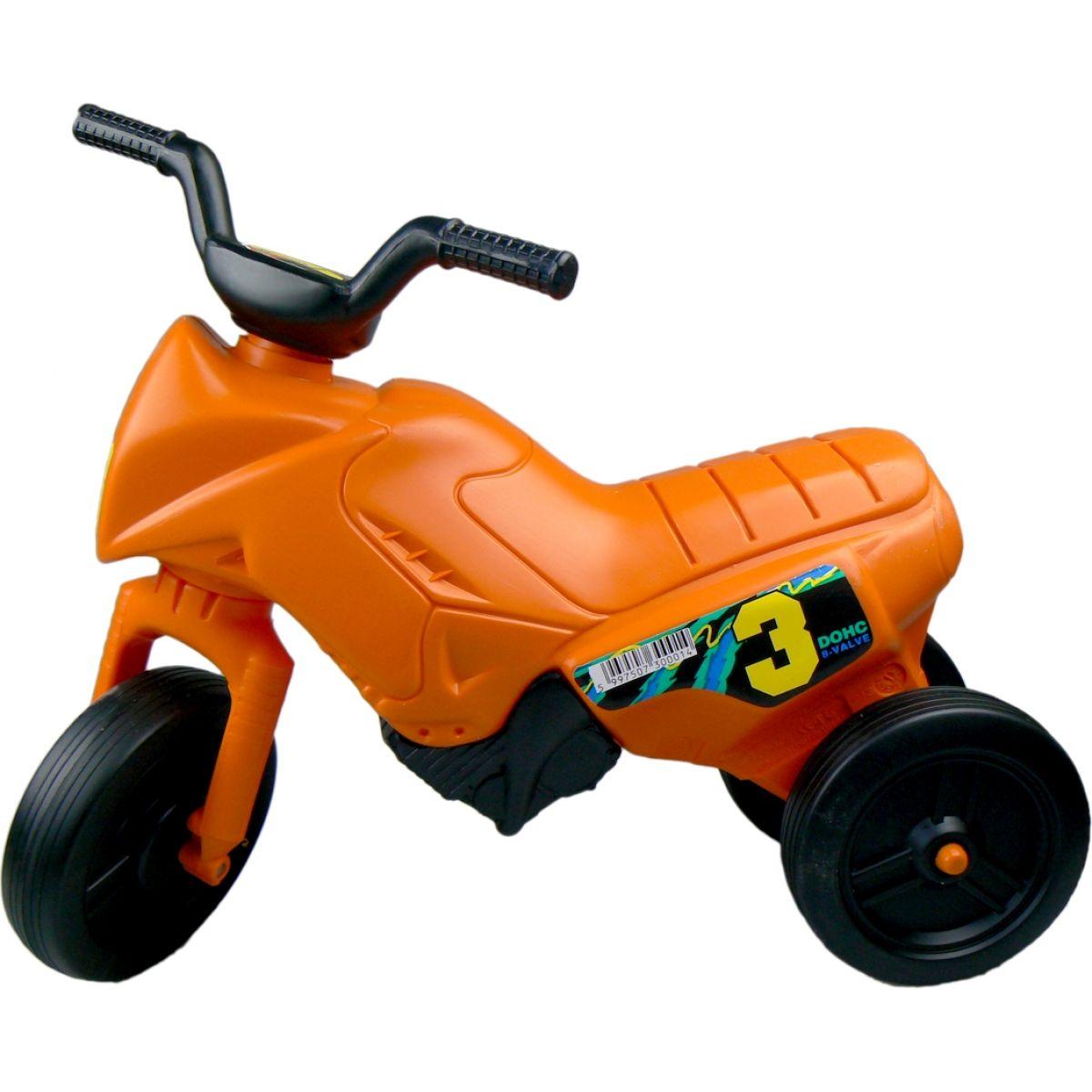 Odrážedlo motorka Enduro menší 150 - Oranžová