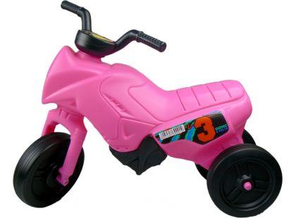 Odrážedlo motorka Enduro menší 150 - Růžová