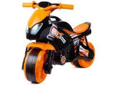 Odrážedlo motorka oranžovo-černá plast v sáčku 35 x 53 x 74 cm