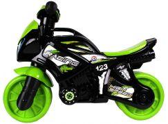 Odrážedlo motorka zeleno-černá plast se světlem se zvukem v sáčku 36 x 53 x 74 cm